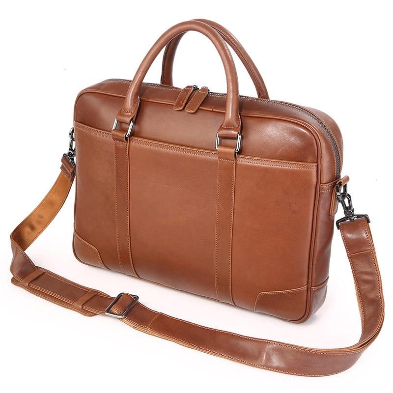 HTB1oZuBXjzuK1Rjy0Fpq6yEpFXaN Nesitu Black Brown Genuine Leather Office Men Briefcase Messenger Bags Real Skin Business Travel Bag 14'' Laptop Portfolio M7349