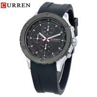 Curren Men Sports Watches Classic Simple Quartz Watch Mens Wristwatches Top Brand Luxury Silicone Band Relogio