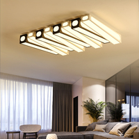 Surface Mounted Modern Led Ceiling Chandelier For Living Room Dining Room Bedroom Black And White Ceiling