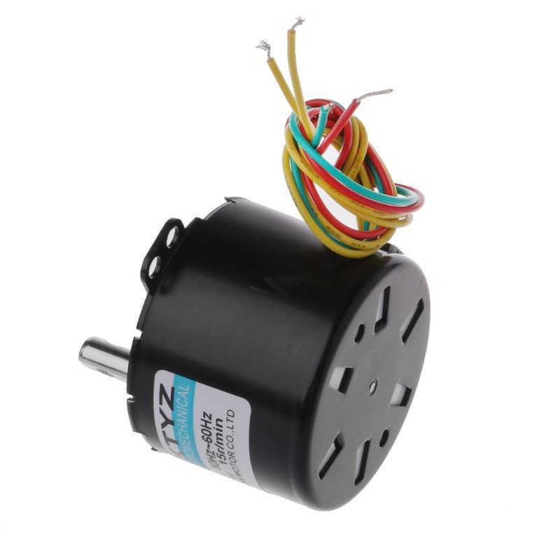 220 В AC 10 Вт мотор-редуктор 50 Z постоянный магнитный синхронизатор двигатель 2,5 об/мин 5 об/мин 10 об/мин 15 об/мин 20 об/мин 30 об/мин 1 об/мин 50 об/мин 110 об/мин