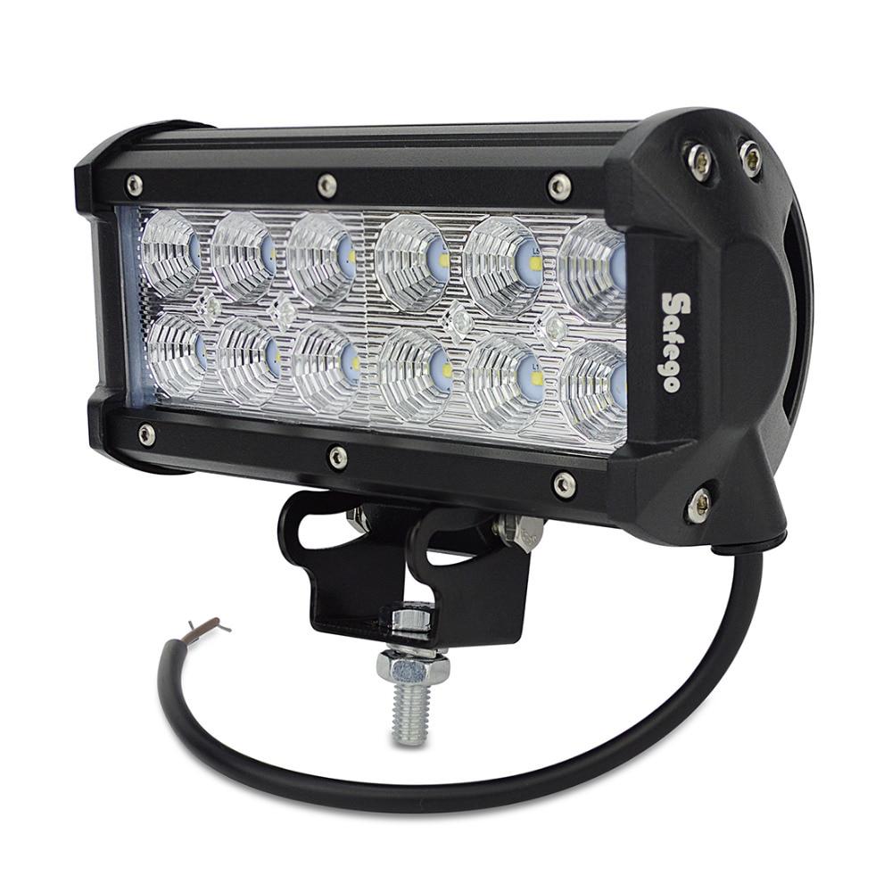 1x 7 դյույմ 36W 3030 LED թեթև բար բեռնատարի - Ավտոմեքենայի լույսեր - Լուսանկար 4