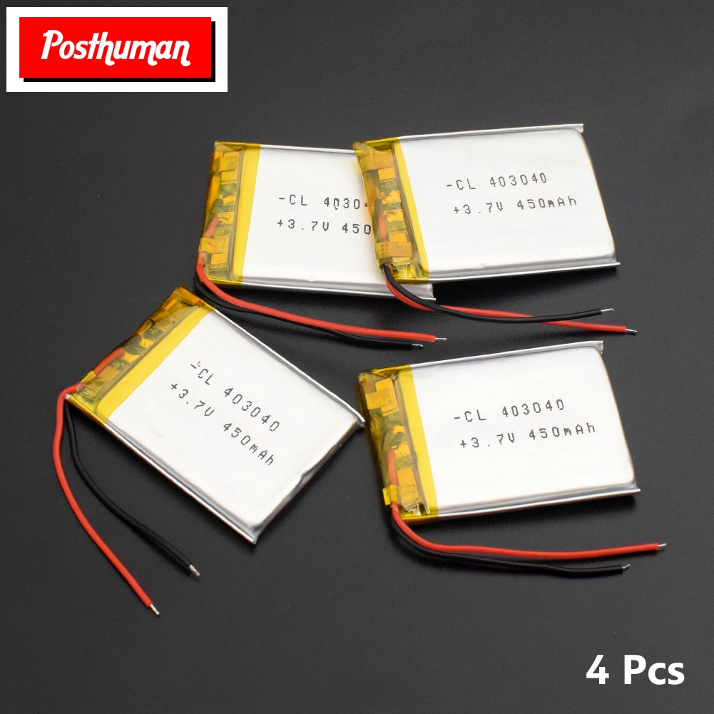 403040 3.7v Lipo Lithium Li-Po Polymer Rechargeable Battery 450mAh li-ion Replacement For Tachograph Bluetooth speaker Camera