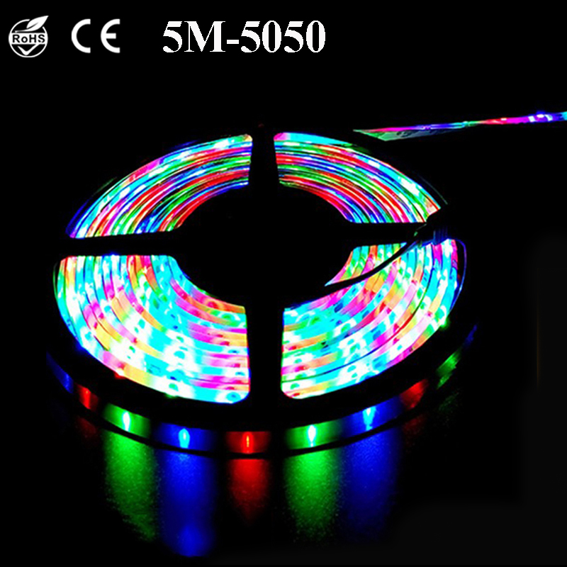 Waterproof Led Strip Rgb Tape Neon Light Dc 12v 5050 Led