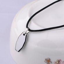 Free Engraving New Gift Men Women Tungsten Carbide Fashion Pendant Necklace Accessories Silver Color