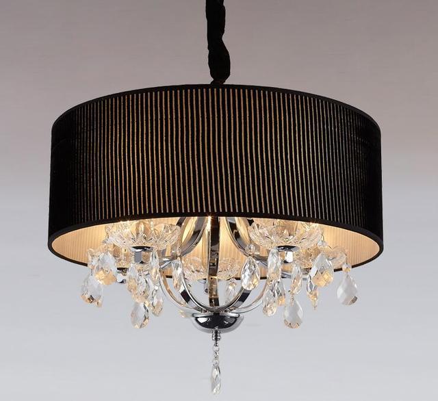 Ronde warm crystal LED hanglampen Slaapkamer restaurant plafondlamp ...