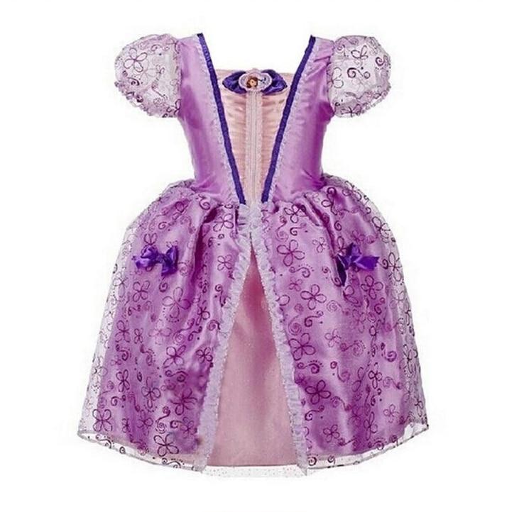 ▽2017 La Nueva historieta Cinderella Niñas Vestidos Rapunzel Aurora ...