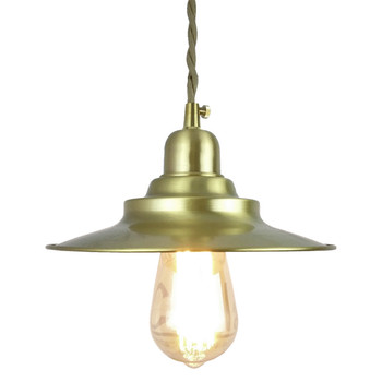 20CM Brass Pendant Lights for Dinning Living room Loft Industrial kitchen pendant lighting with copper Lampshade fabric wire