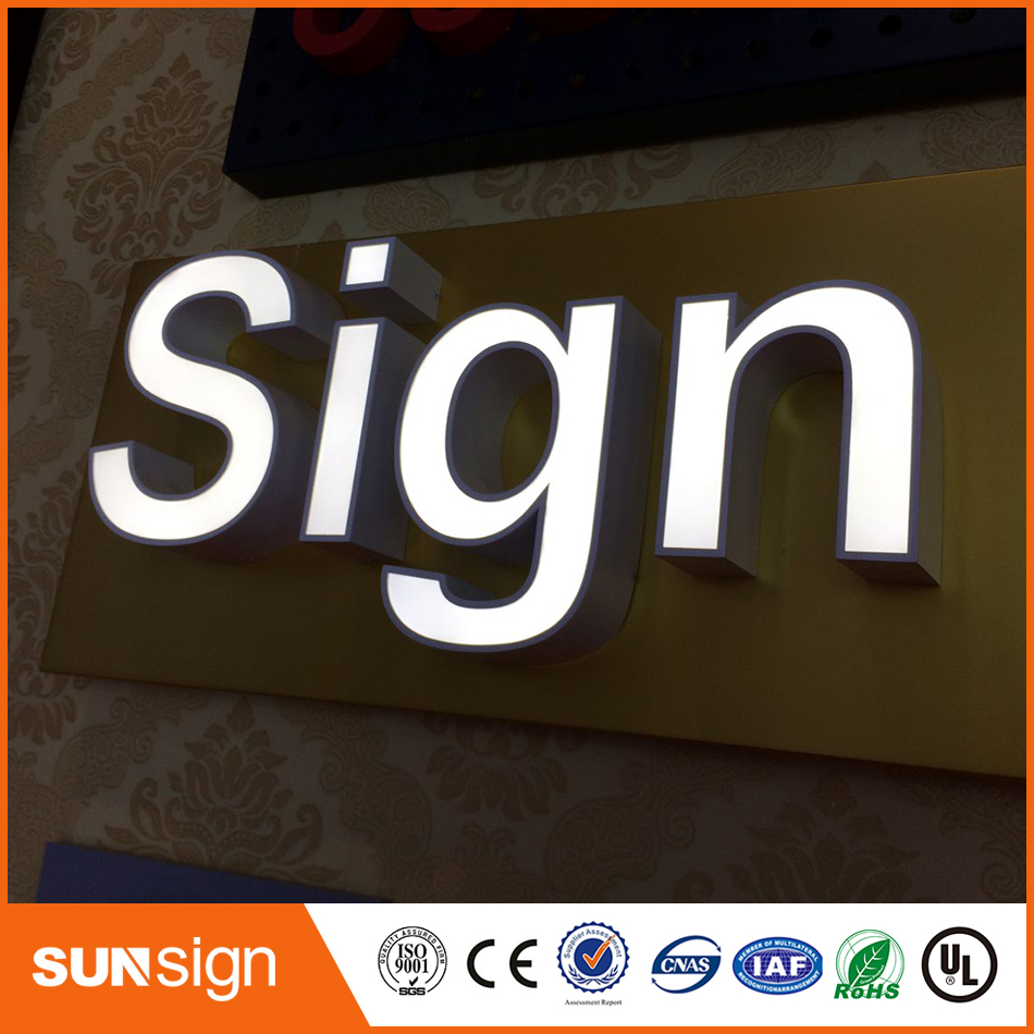 Frontlit Stainless Steel Advertising Led Channel Sign Letter
