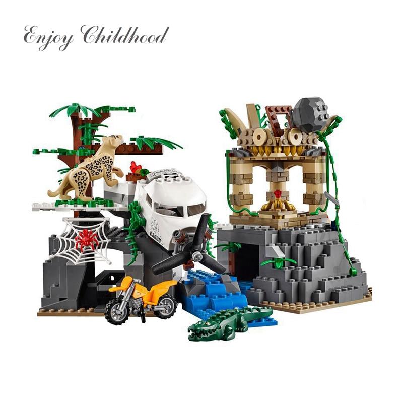 02061 Ville Série D'exploration de Jungle Building Blocks Set 60161 Jouets Éducatifs Pour Enfants De Noël Cadeau Legoings