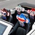 Lovely Cartoon Superheroes monkey Neck Pillow CAR HEADREST WHIPS For BMW Mini Cooper