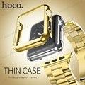 Original hoco protectora pc case para apple watch iwatch 38mm 42mm Colorido plating cubierta Perfect match 4 colores liberan el envío