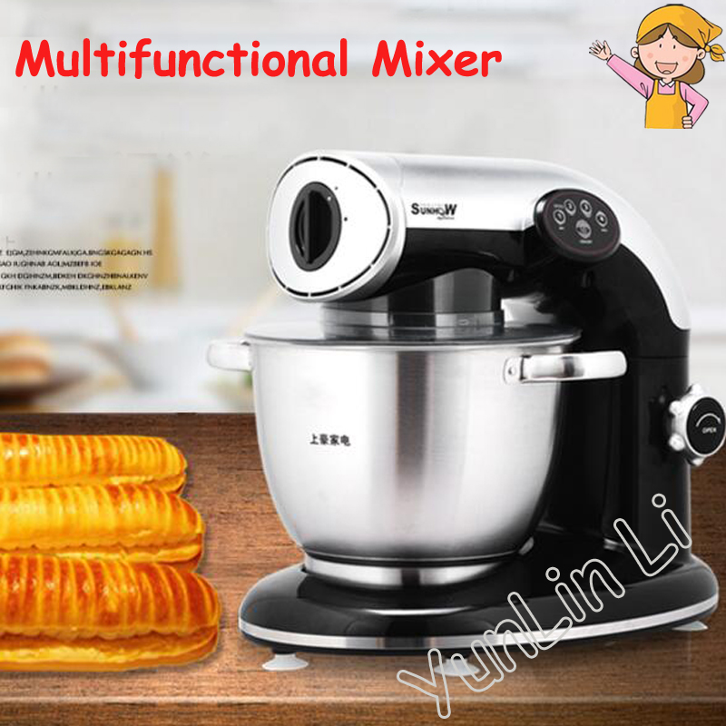 Multi-function Mixer Household Dough Maker Household Stand Mixer Meat Grinder Domestic Dough Kneading Machine KA-1000 cukyi household electric multi function cooker 220v stainless steel colorful stew cook steam machine 5 in 1