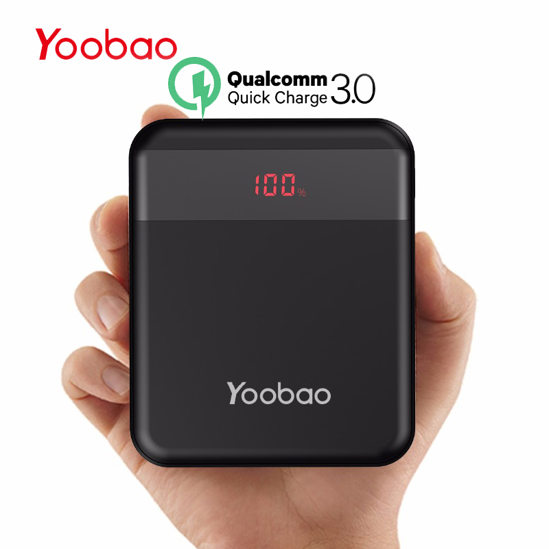 buy popular b9b91 5a6fa US $25.58 40% OFF|Yoobao Power Bank 10000 mAh For Xiaomi Quick Charge 3.0  Pover Bank Portable Charger External Battery For iPhone 7 8 X PoverBank -in  ...