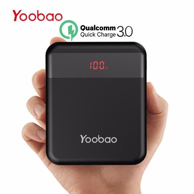 Портативное зарядное устройство YOOBAO 10000 мАч для Xiaomi Quick Charge 3,0 Pover банк портативный зарядное устройство Внешний Батарея iPhone 7 8 X повербанк