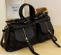 бесплатная доставка женщин сумки осень мода черный сумка портативный женская сумма staring большой рабочие сумки b051