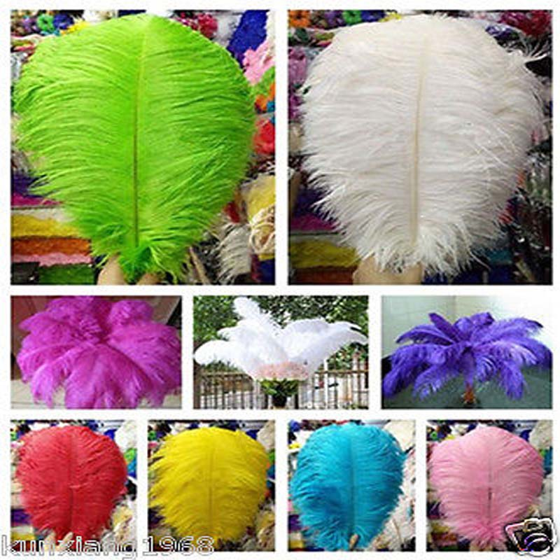 wings of the angel  Wholesale 100pcs High Quality Natural Ostrich Feathers 20-22inch 50-55cm Color choice