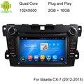5.1.1 1024*600 Quad Core RK3188 Android DVD Player Do Carro Para Mazda CX7 2012-2015 Com WI-FI 3G GPS Capacitiva Rádio Do Carro de Som Do Carro
