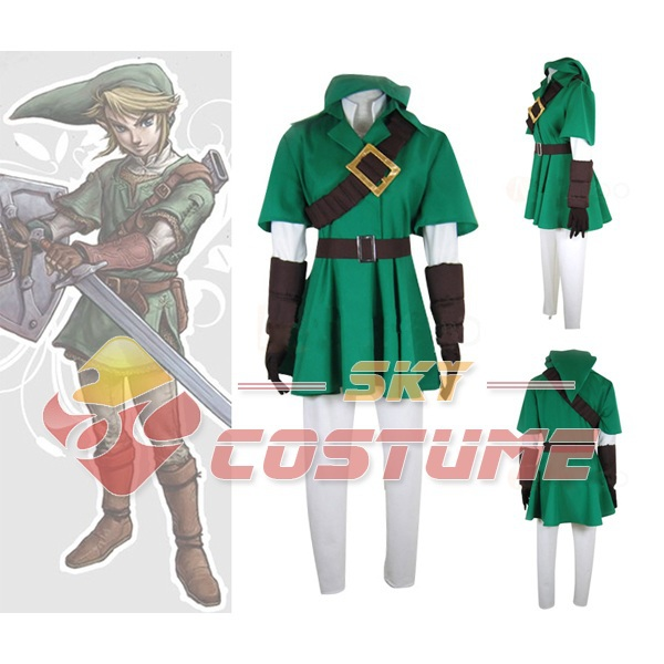 The Legend of Zelda Link Jacket  Cosplay Men Suit Costume Free shipping