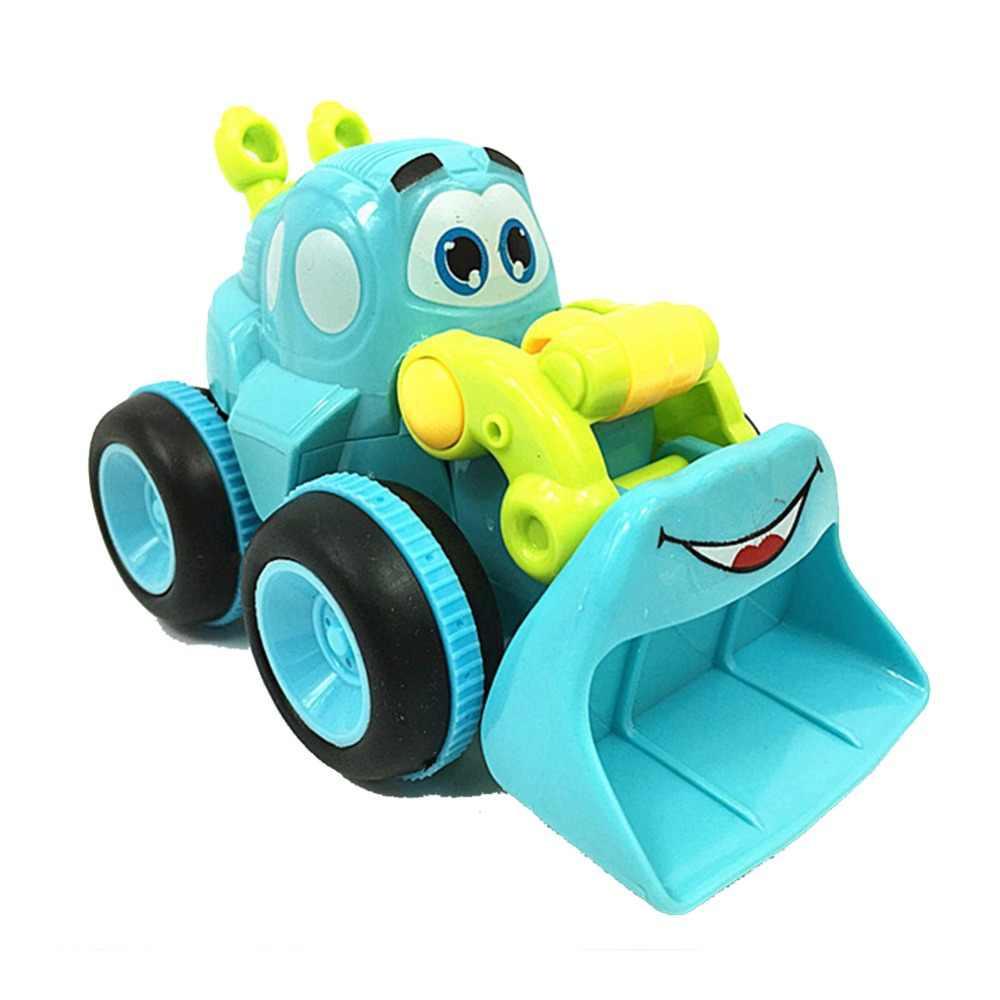 Kartun Baru Bulldozer Model Mainan Diecast Mainan Menggali Mainan Model Bermain Truk Traktor Kendaraan Teknik Anak-anak Hadiah Grosir