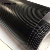 VEHEMO 60x152 cm Super qualità Ultra Gloss 4D Fibra di Carbonio Vinile Wrap Struttura Super-Lucido Film di Carbonio