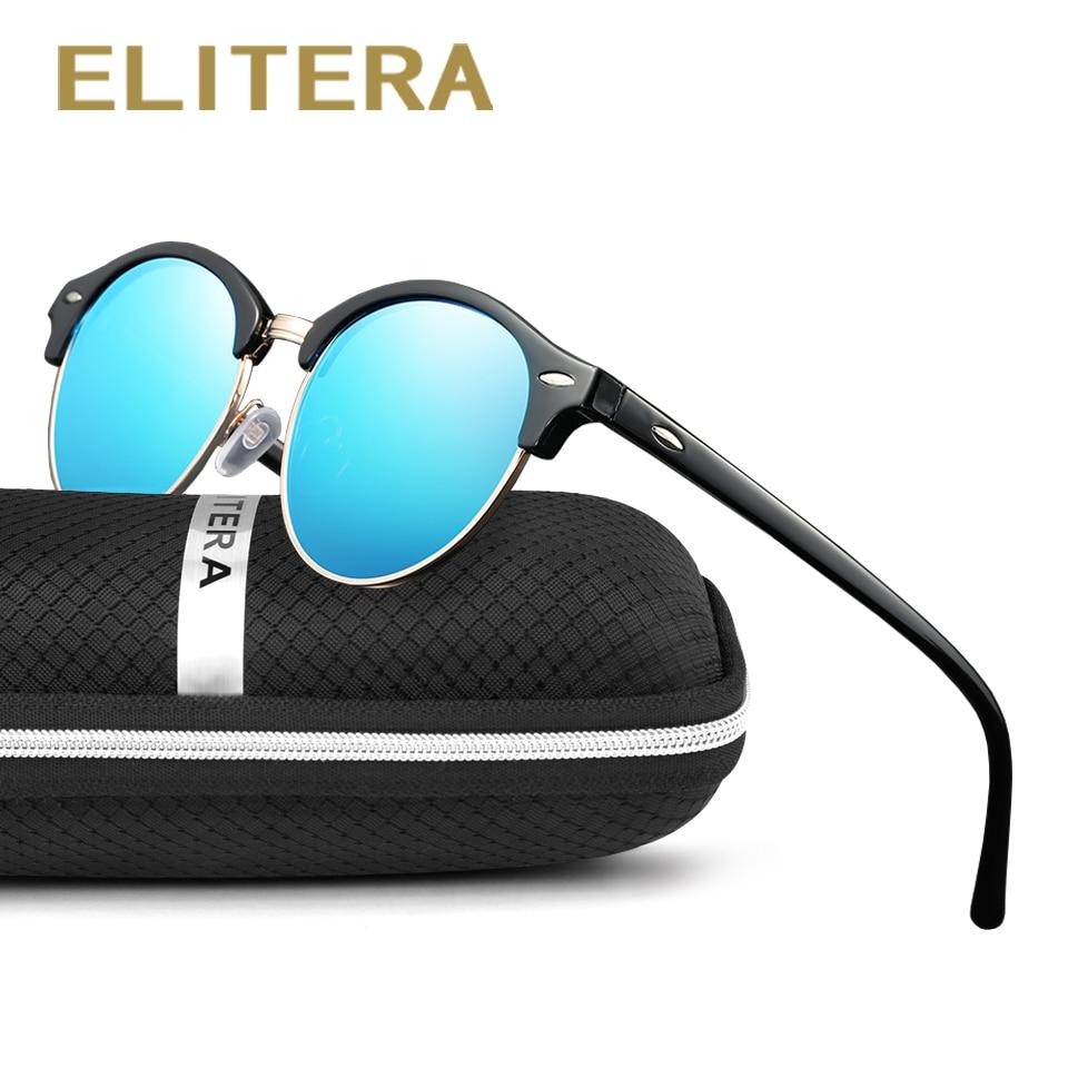 ELITERA Novos Óculos Polarizados Óculos De Sol Dos Homens Mulheres Retro  Rebite de Alta Qualidade f5be08e6cc