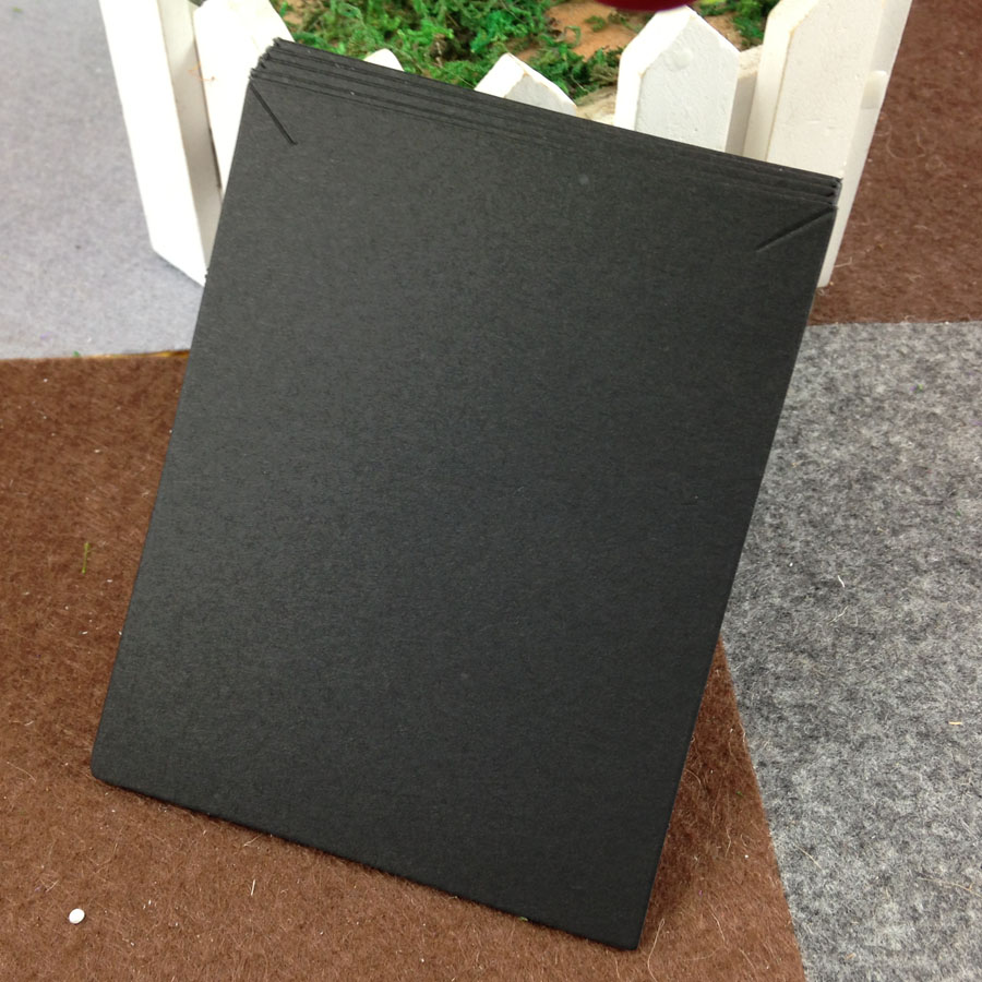 Wholesale 100Pcs Black Paper Cards 10x8cm Cardboard Jewelry Card Necklace Display Packaging Cards Square Earrings Card