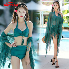 цены Swimsuit Swimwear Three-piece Set Covered with Belly Conservative Beach Vacation Swimsuit Girl Swimsuit Two Piece Swimsuit