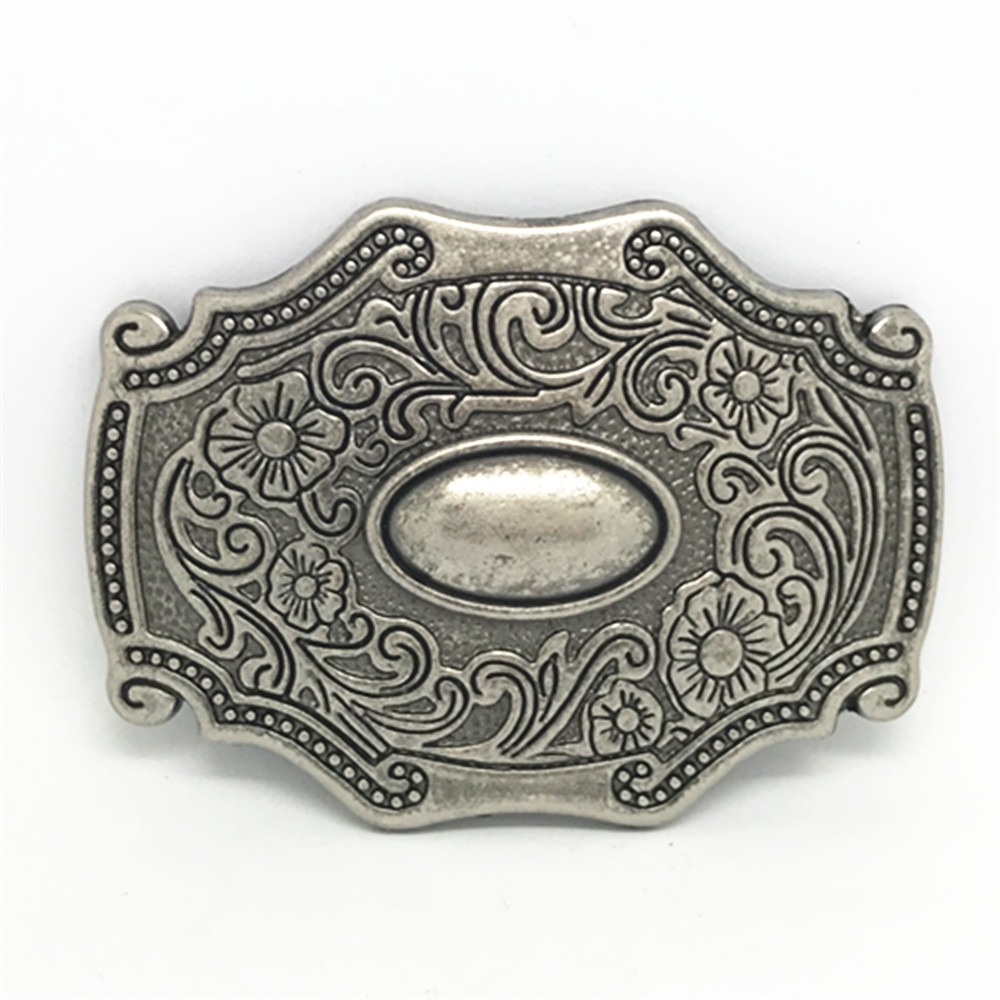 Western Cowboy Belt Buckle Animal Head Retro Design Casual 100 Men Smooth Belt Buckle For A 4.0 Belt