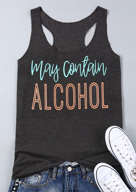 May Contain Alcohol Print Tank