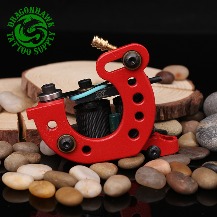 New Design Handmade Wire Cutting Tattoo Machine 10 Wraps Coil Tattoo Gun For Liner & Shader Red Color filtero sie 01 8 xxl pack экстра