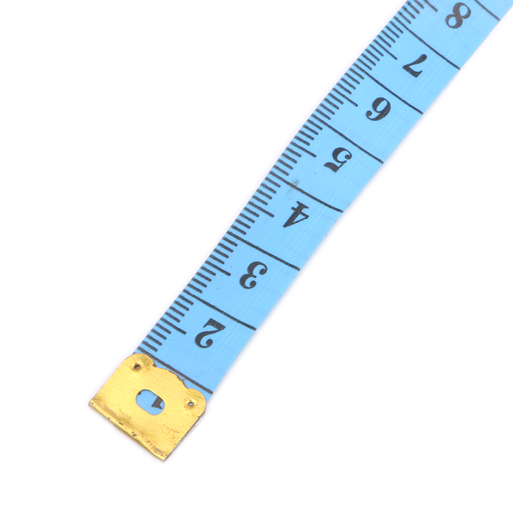 10 150cm Body Measuring Ruler Sewing Tape Measure Cloth Tailor Soft Flat Yellow