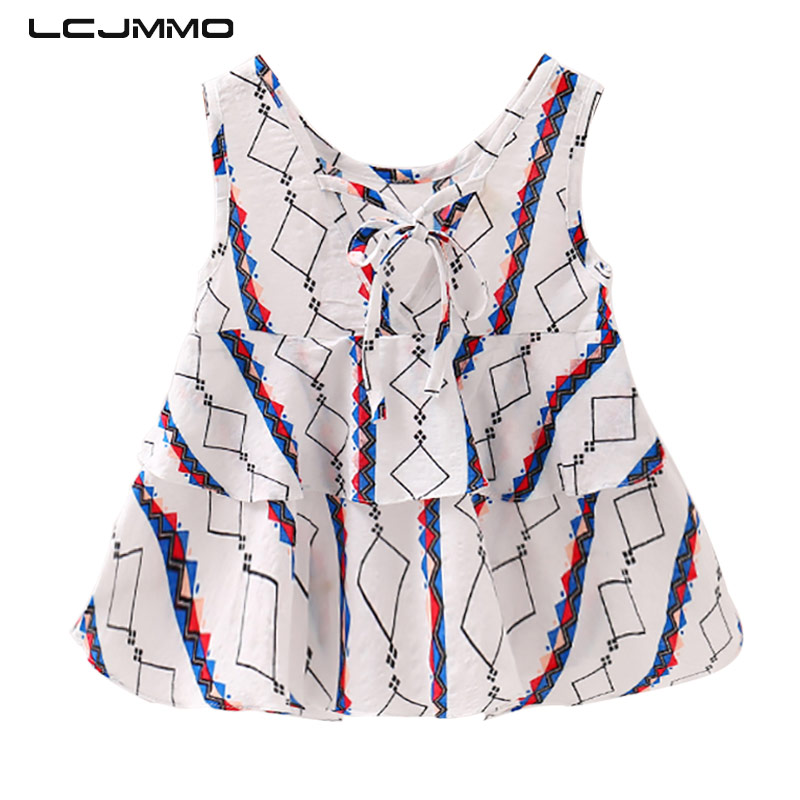 LCJMMO Baby Dresses 2018 Summer Style Baby Girl Dress Print Bowknot Backless Kids Clothes Cute Toddler Princess Vestido Dress