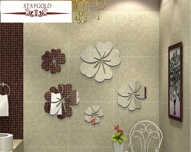 Althea Bricolage Créatif Décoration De La Maison 3d Miroir Stickers Muraux  Chambre Salon Canapé Tv Fond