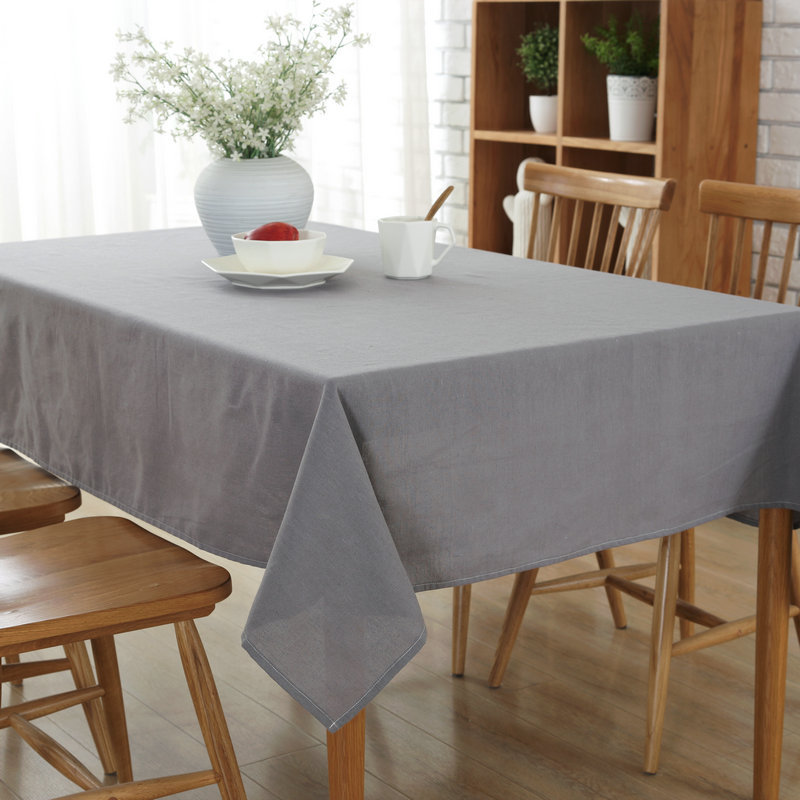 Candy-colored Cotton Soft Cloth Tablecloths Dust-proof cover Multi-purpose Table cloth Solid Multicolour Blue Pink Beige Green