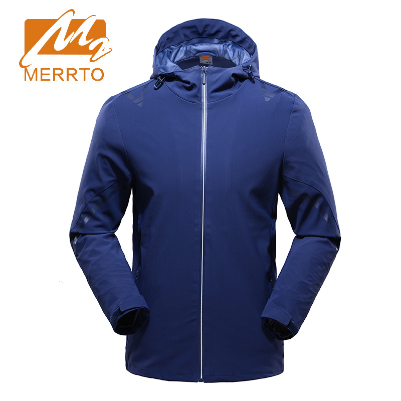2017 Merrto Mens Windproof Waterproof Softshell Jackets Breathable Outdoor Climbing Sports Jackets For Men Free Shipping MT19268 2017 merrto mens hiking boots waterproof breathable outdoor sports shoes color black khaki grey for men free shipping mt18638