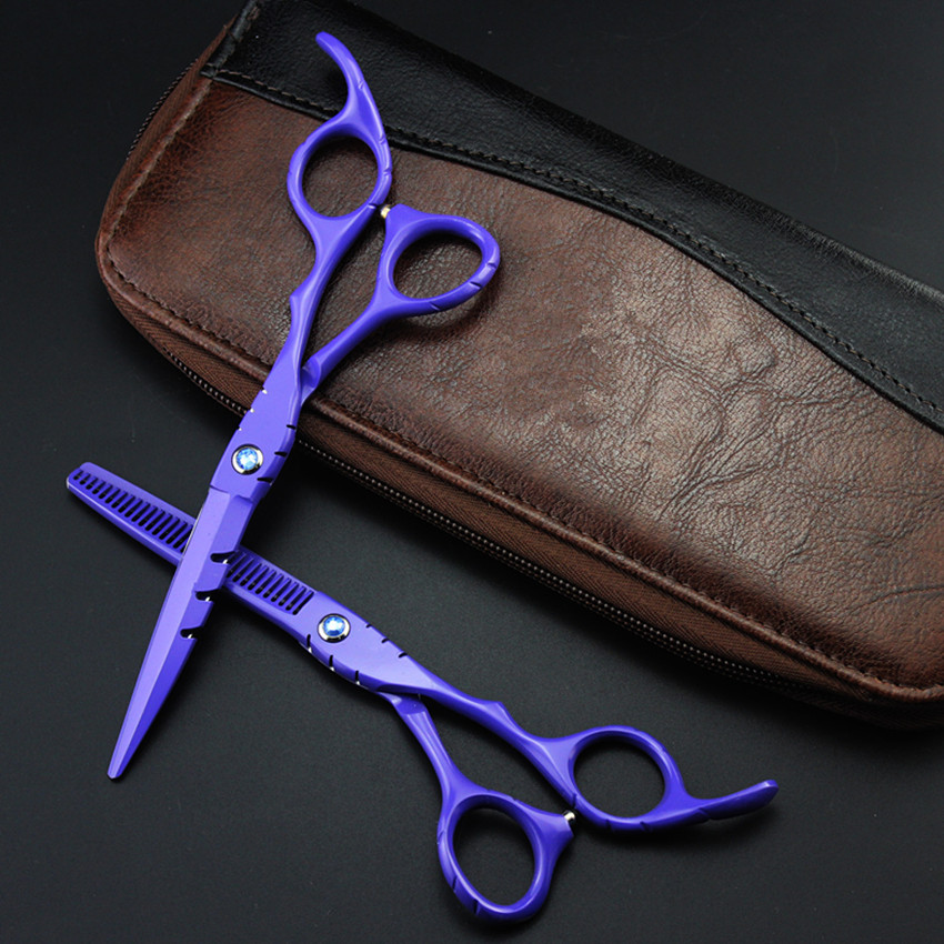 professional japan 440c 6 & 5.5 inch purple hair scissors thinning shears cutting barber tools cut scissor hairdressing scissors professional 6 inch japan 440c hair scissors cutting shears salon scissor thinning sissors barber makas hairdressing scissors