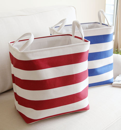 Cotton Linen Striped Hanging Laundry Clothes Storage Baskets Toys Organizer Kitchen Pouch In From Home Garden On Aliexpress