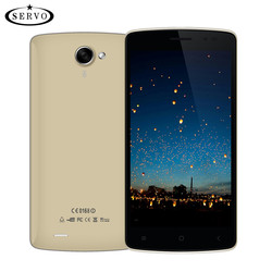 Téléphone portable d'origine SERVO Android4.4.2 IPS 5.0 pouces ROM 4G Quad Core 1.3 GHz 5.0MP GSM WCDMA débloqué Smartphone celulaire vowney