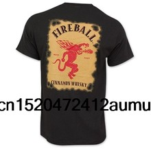 Fireball Cinnamon Whiskey Bottle Label T-Shirt(China)