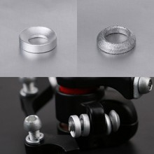 2 Pcs Bicycle Brake Caliper Spacer Joint Washer Aluminum Mountain Bike Accessory(China)