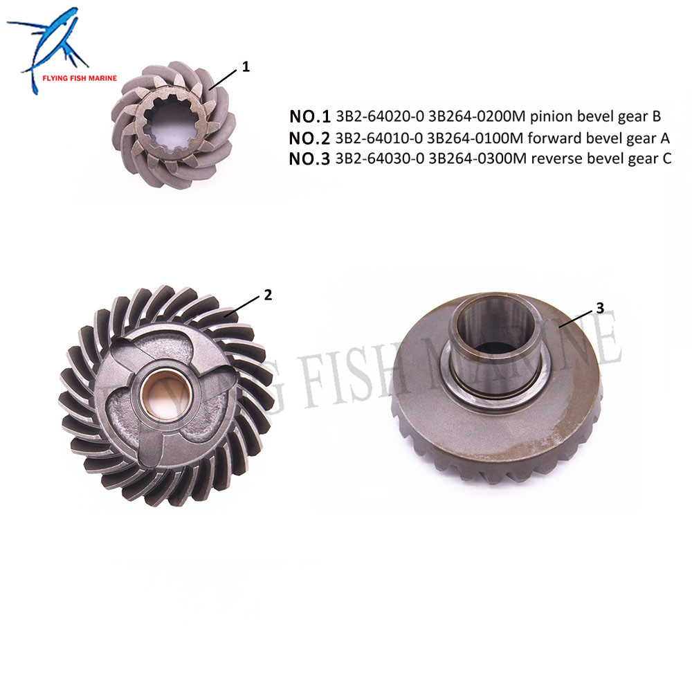 3B2-64010 3B264-0100M/3B2-64020 3B264-0200M/3B2-64030 3B264-0300M конического зубчатого колеса Шестерни A/B/C для Tohatsu Nissan 2-х тактный двигатель 9.8HP 6HP 8HP