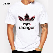 GTZM T Shirt Fashion Stranger Things Men Tshirt 2017 Cotton Short Sleeve Tops Tees for Male
