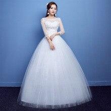2018 Plus Size Three Quarter Sleeves Wedding Dresses