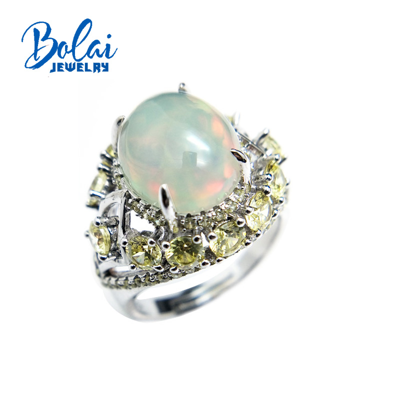Bolaijewelry,new 2018 Natural Opal oval 10*12mm  gemstone luxury Ring 925 sterling silver fine jewelry for women party giftBolaijewelry,new 2018 Natural Opal oval 10*12mm  gemstone luxury Ring 925 sterling silver fine jewelry for women party gift