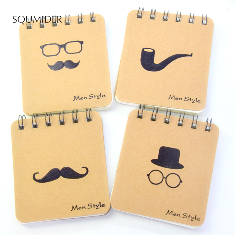 SQUMIDER Kawai Stationery MR Beard Series Coils Ben Portable Notebook Doodles Notepads
