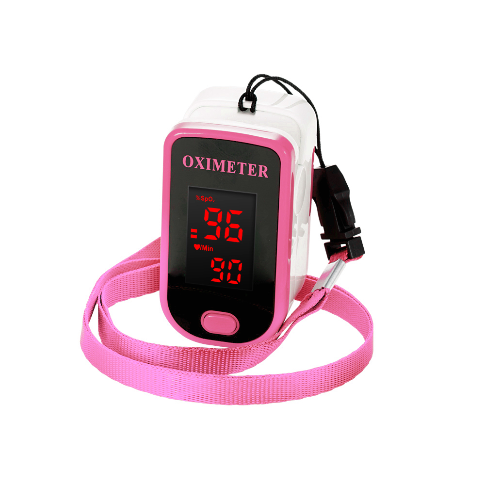 Fingertip Pulse Oximeter With Case and 2 Direction Display Adjustment to Monitor Heart Rate
