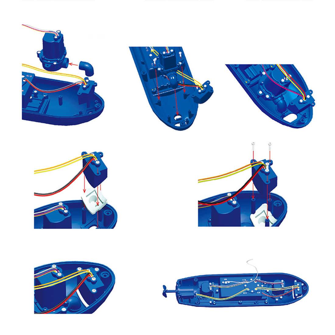 Divertido Mini submarino 6 canales Control remoto bajo el agua barco RC modelo de barco de juguete educativo para niños regalo para niños