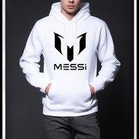 Free Shipping MESSI Soccer Men Hoodies Sweatshirt Man Casual Sport Pocket Hat Shirt Hoodies Football Long
