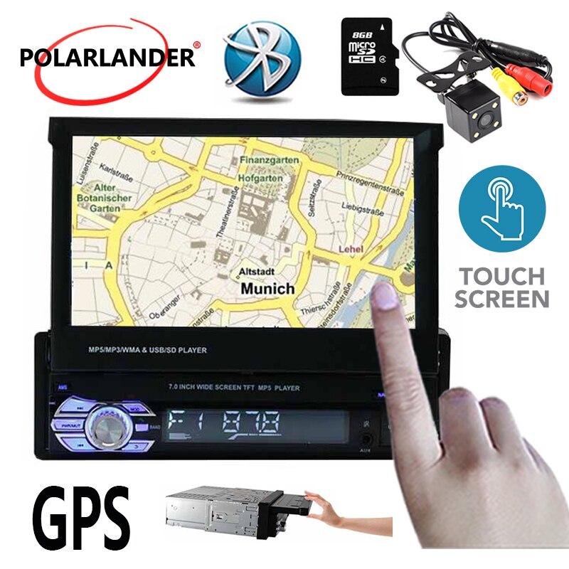 1 Autoradio 7 pouces Autoradio stéréo vidéo Autoradio Bluetooth MP5 TF FM USB avec/sans caméra arrière