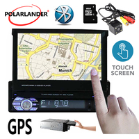 1 din 7 inch Car radio Stereo video Autoradio Bluetooth MP5 TF FM USB with/without rear camera Mirror Link radio cassette player